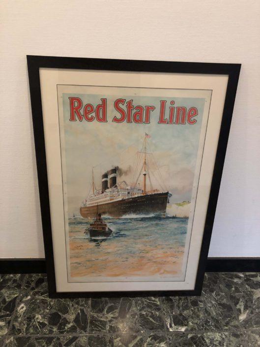 Falcon-seamen-shop-antwerpen-SCHILDERIJ RED STAR LINE 3